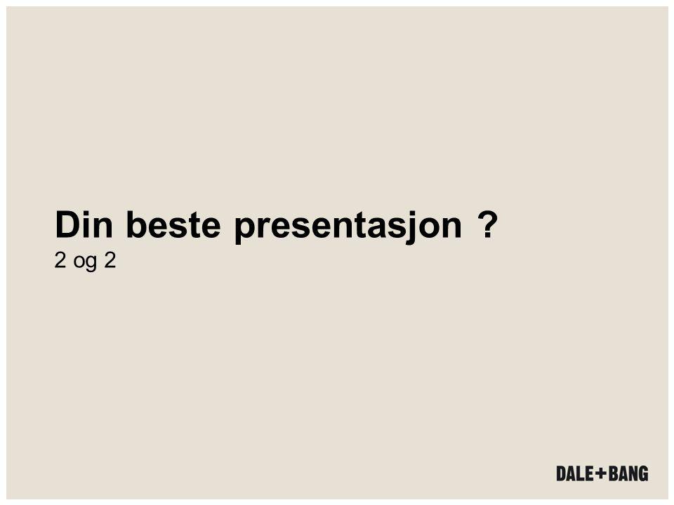 Din beste presentasjon 2 og 2