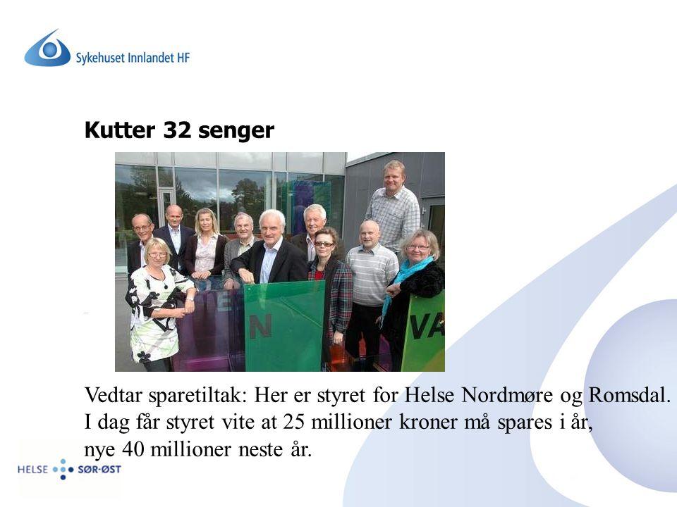 Vedtar sparetiltak: Her er styret for Helse Nordmøre og Romsdal.