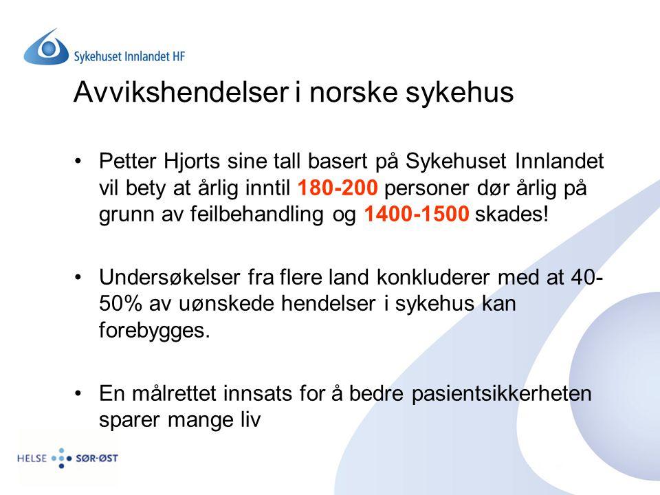 Avvikshendelser i norske sykehus