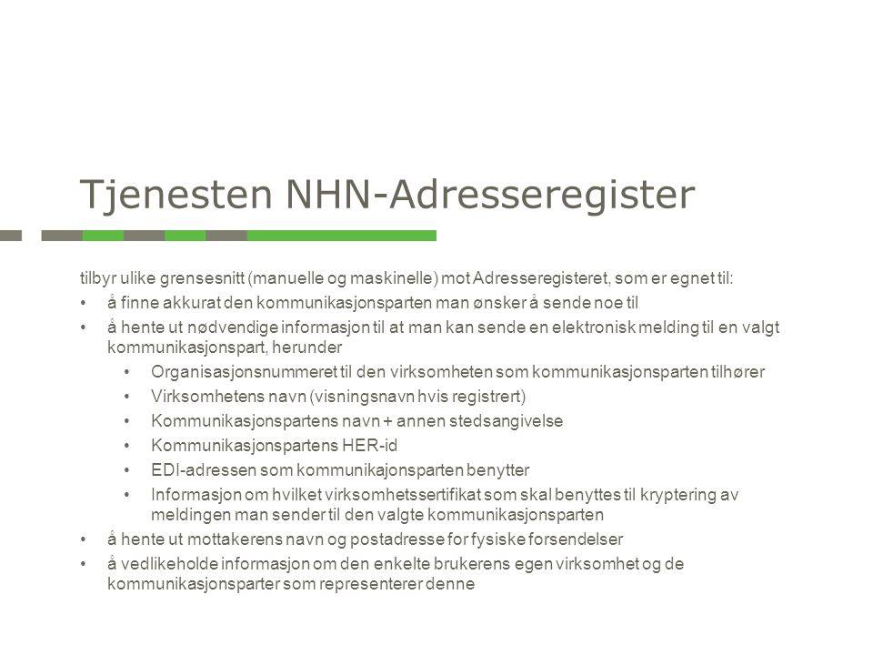 Tjenesten NHN-Adresseregister
