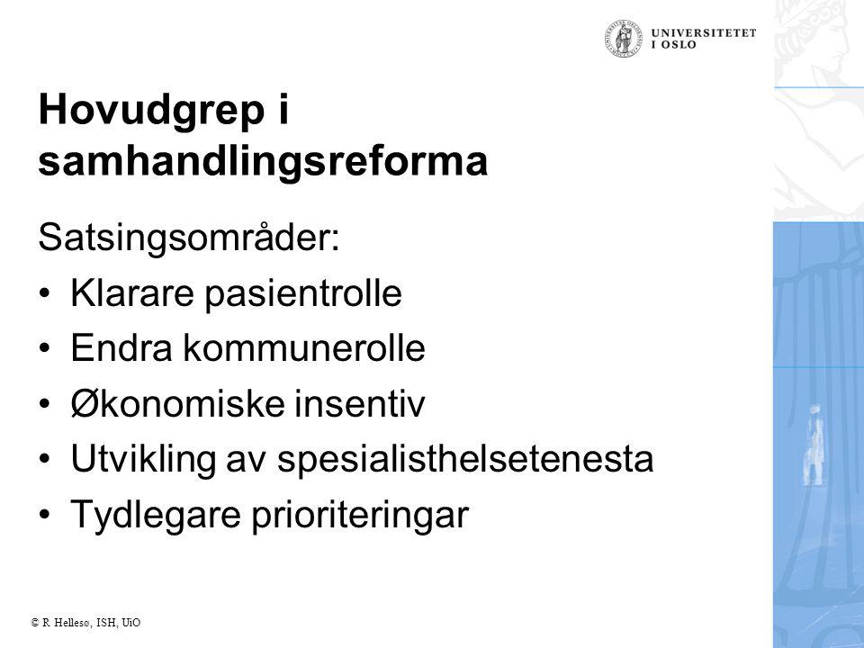 Hovudgrep i samhandlingsreforma