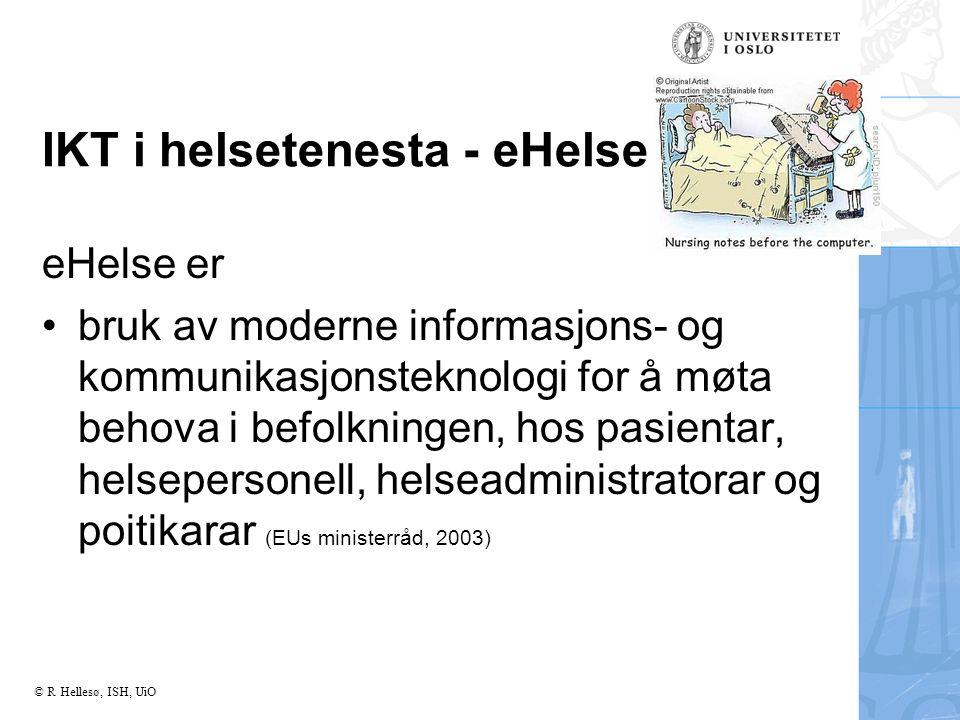 IKT i helsetenesta - eHelse