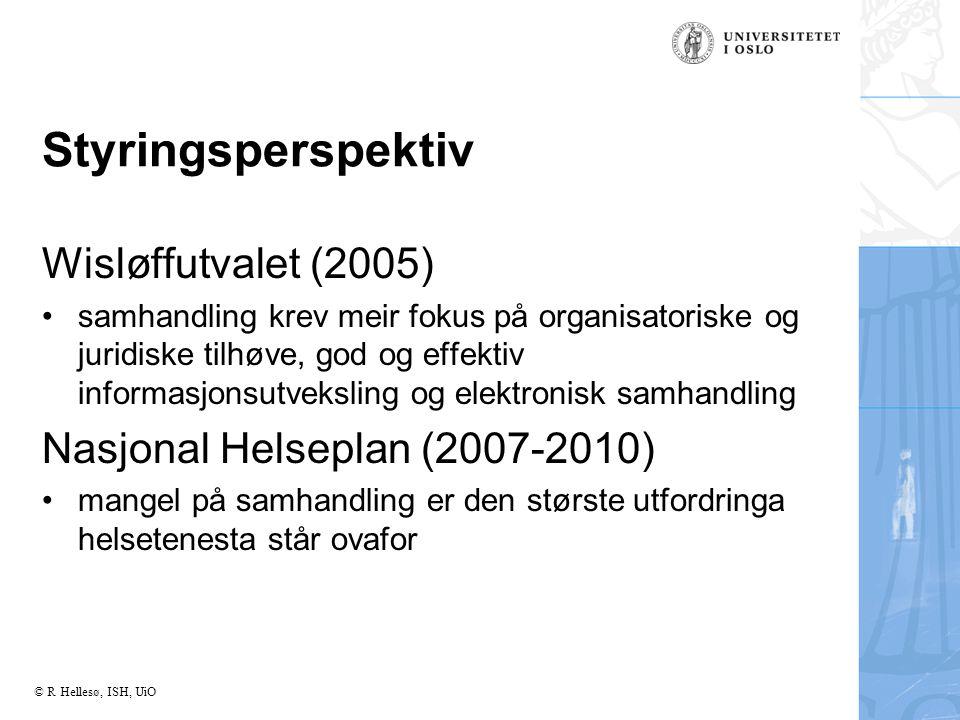Styringsperspektiv Wisløffutvalet (2005)