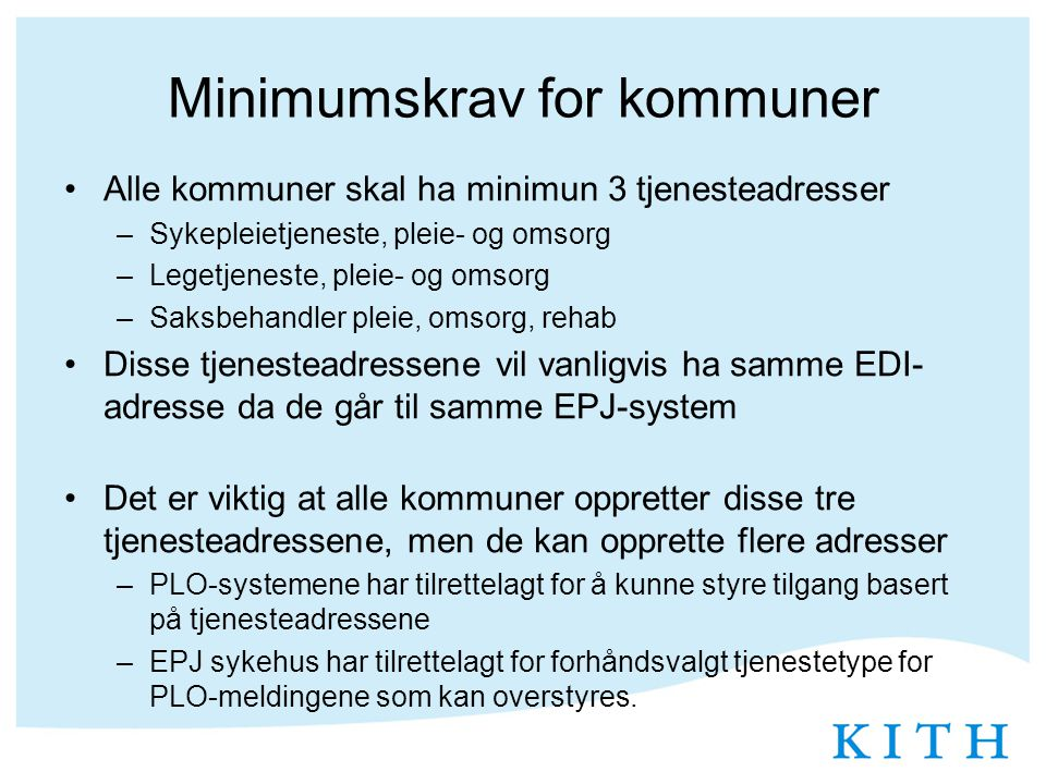 Minimumskrav for kommuner
