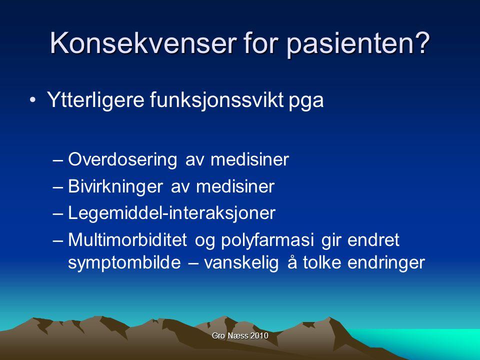 Konsekvenser for pasienten