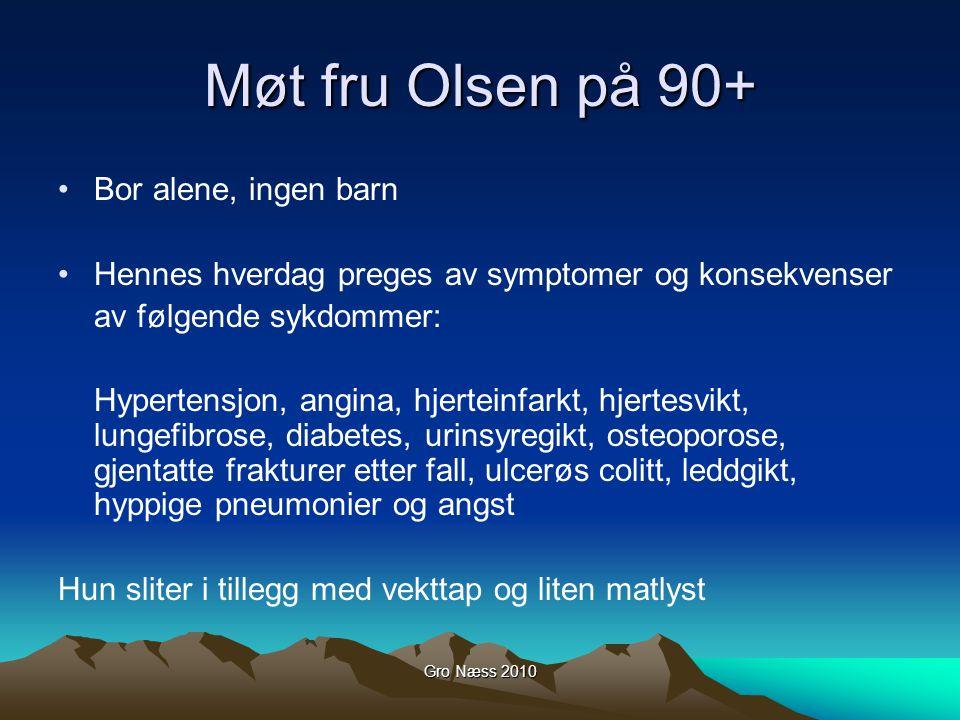 Møt fru Olsen på 90+ Bor alene, ingen barn