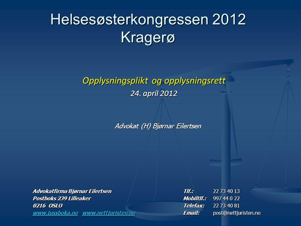 Helsesøsterkongressen 2012 Kragerø