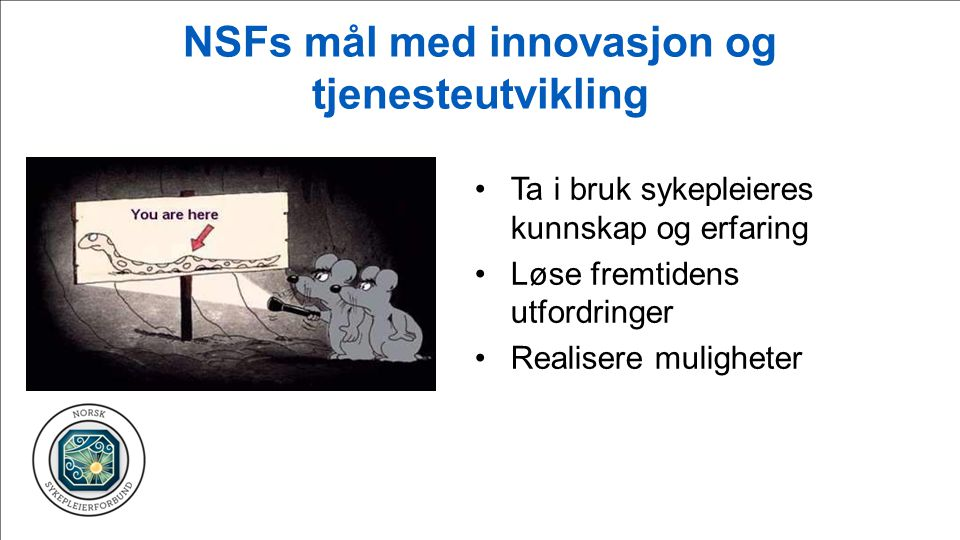NSFs mål med innovasjon og tjenesteutvikling