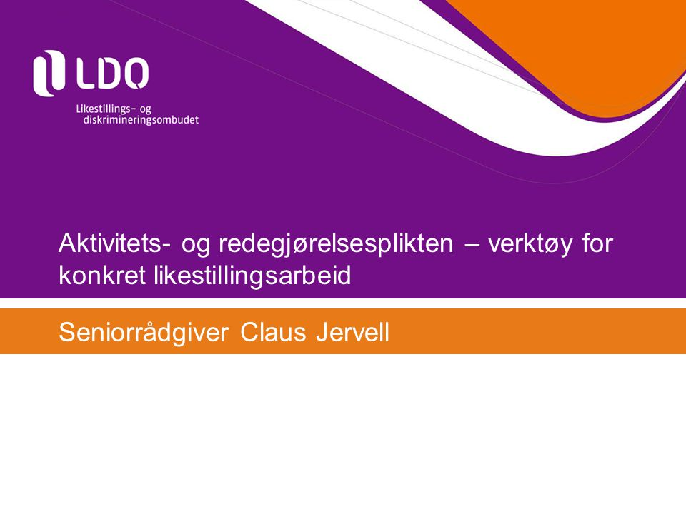 Seniorrådgiver Claus Jervell