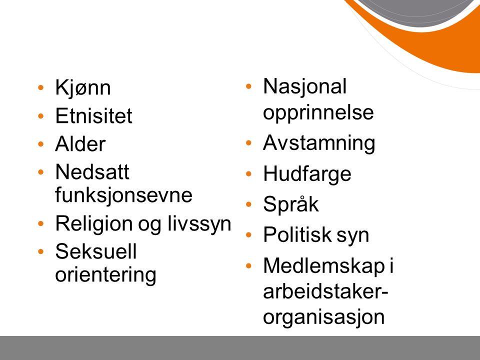 Medlemskap i arbeidstaker- organisasjon Kjønn Etnisitet Alder
