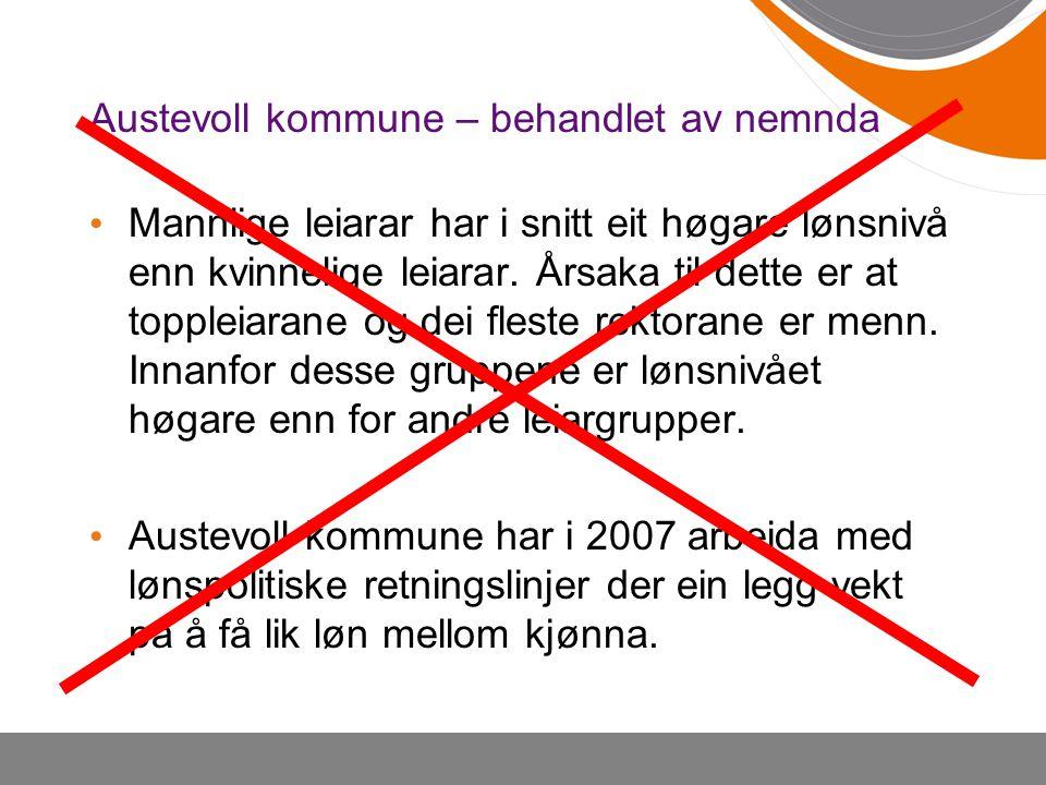 Austevoll kommune – behandlet av nemnda