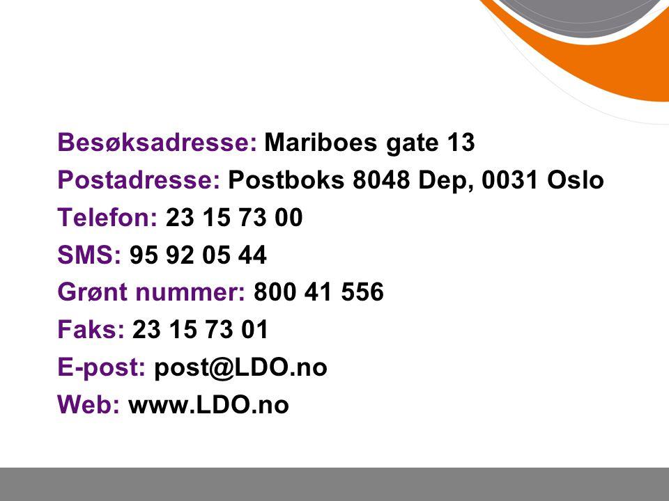 Besøksadresse: Mariboes gate 13
