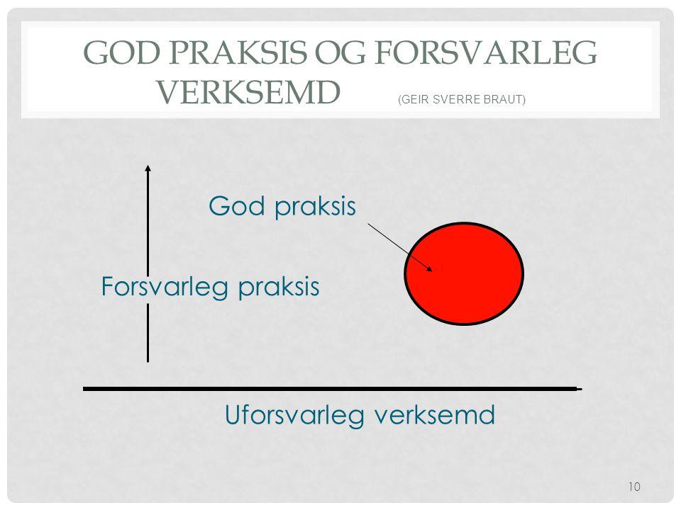 God praksis og forsvarleg verksemd (Geir Sverre Braut)