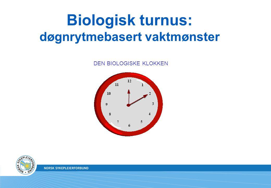 Biologisk turnus: døgnrytmebasert vaktmønster