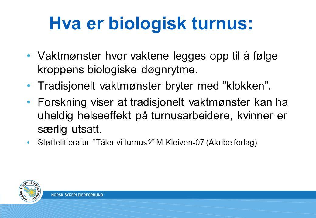 Hva er biologisk turnus: