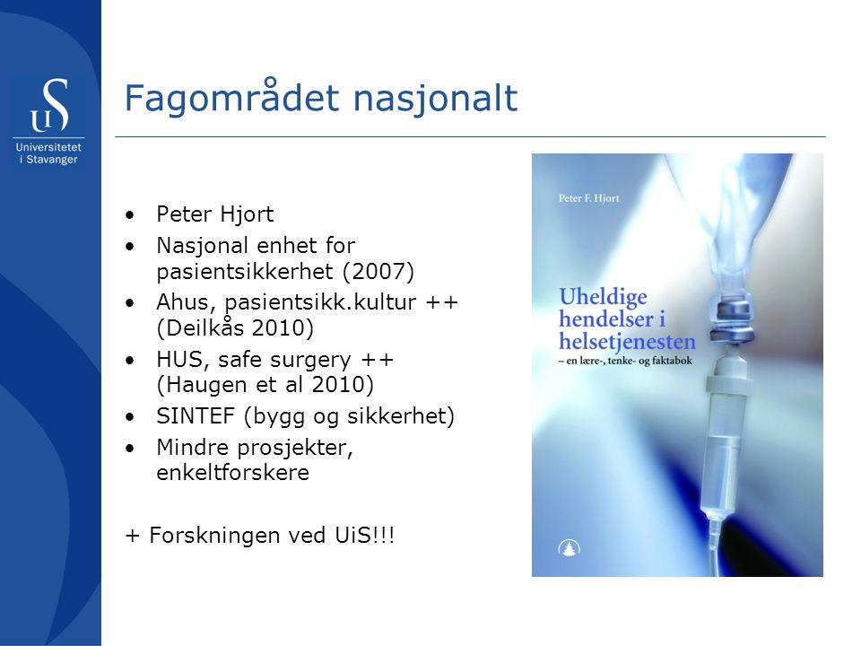 Fagområdet nasjonalt Peter Hjort