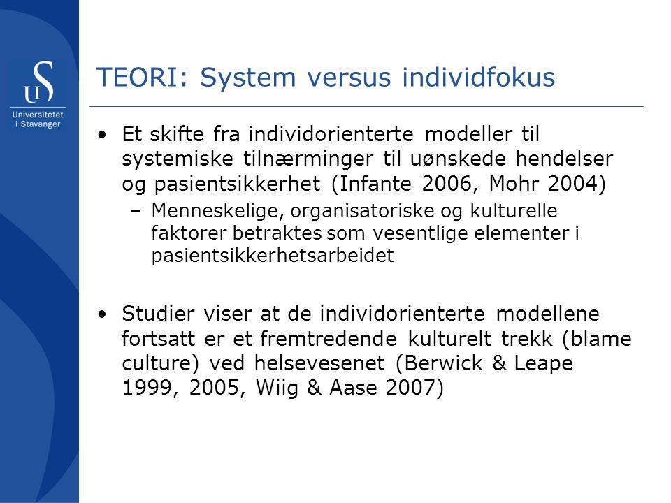 TEORI: System versus individfokus