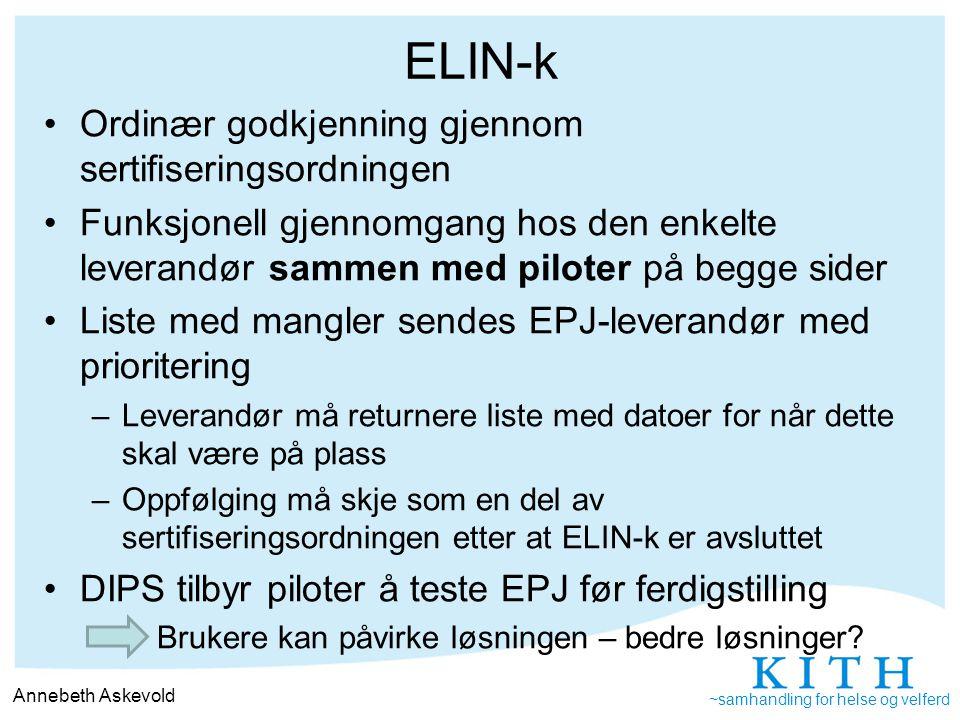 ELIN-k Ordinær godkjenning gjennom sertifiseringsordningen