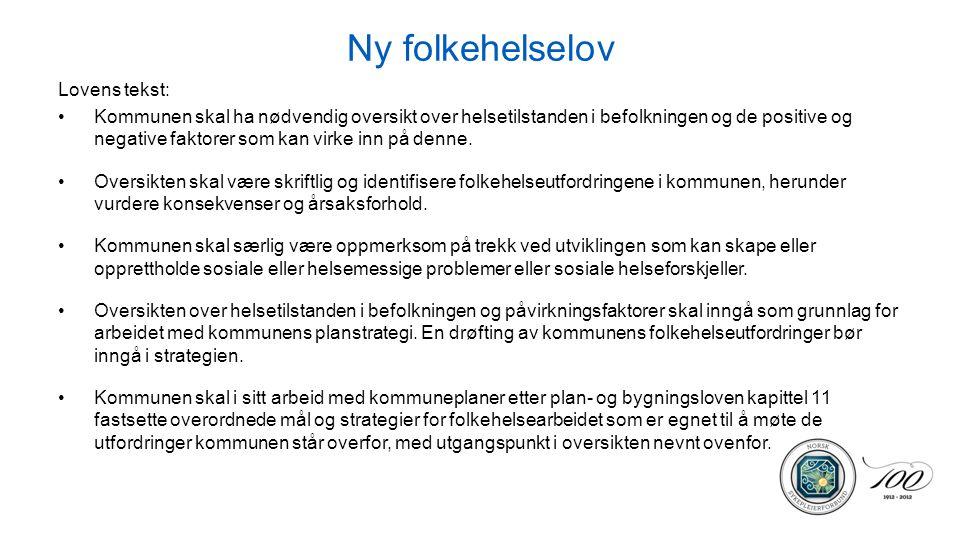 Ny folkehelselov Lovens tekst: