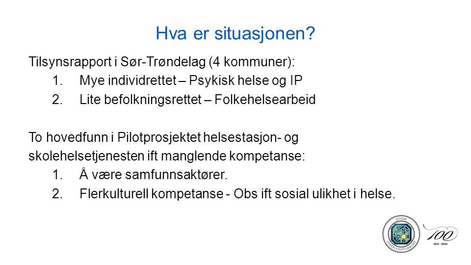 Hva er situasjonen Tilsynsrapport i Sør-Trøndelag (4 kommuner):
