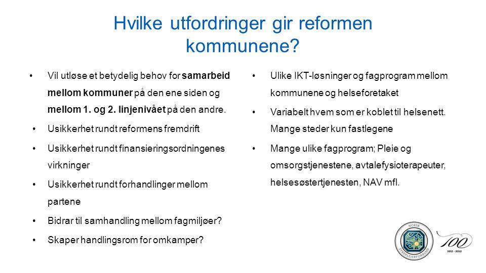 Hvilke utfordringer gir reformen kommunene