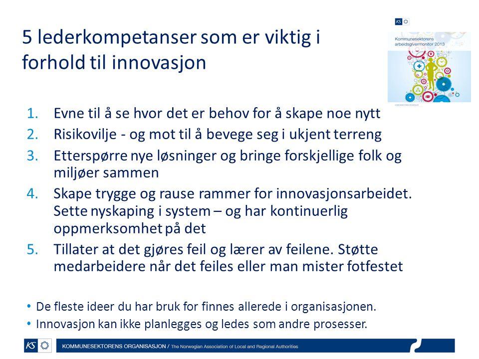 5 lederkompetanser som er viktig i forhold til innovasjon