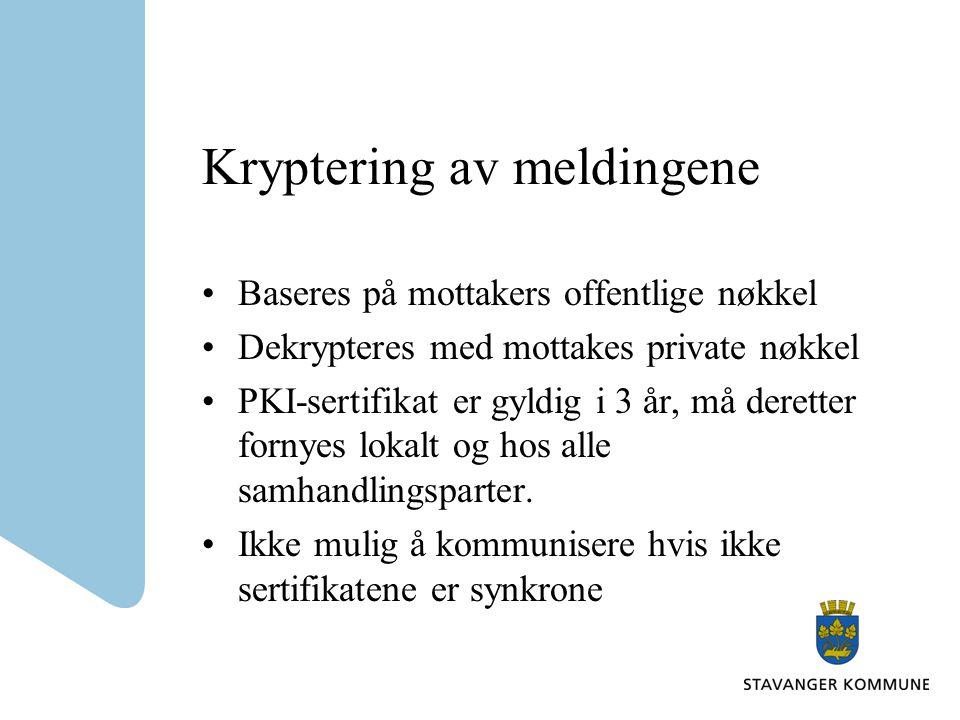 Kryptering av meldingene