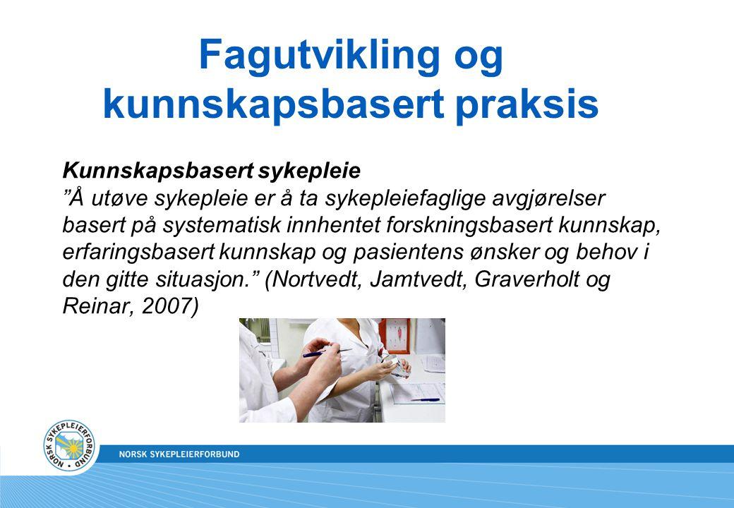 Fagutvikling og kunnskapsbasert praksis