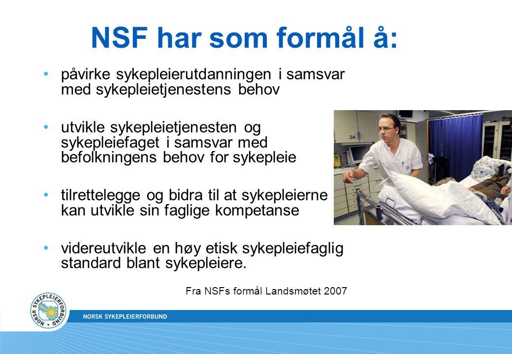 Fra NSFs formål Landsmøtet 2007