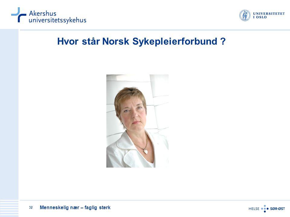 Hvor står Norsk Sykepleierforbund
