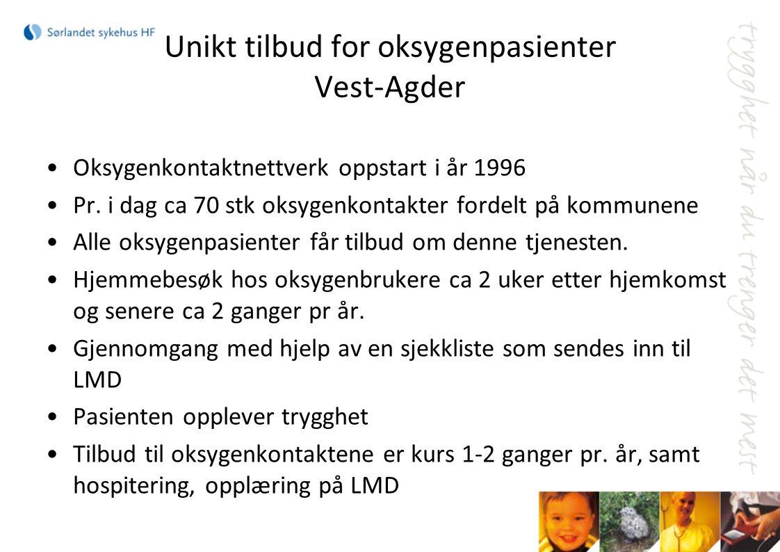 Unikt tilbud for oksygenpasienter Vest-Agder