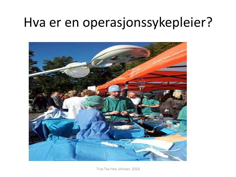 Hva er en operasjonssykepleier