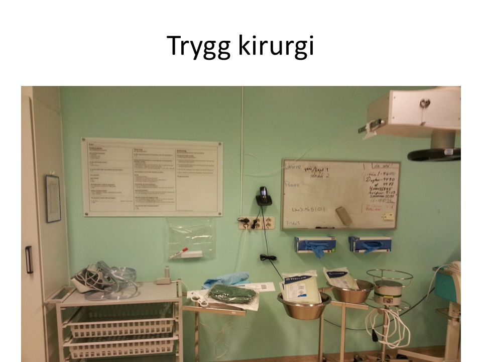 Trygg kirurgi