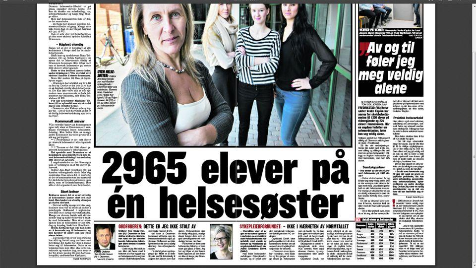 SÅ KUNNE VI 2.PÅSKEDAG LESE I VG OG HØRE I NRK DETTE: