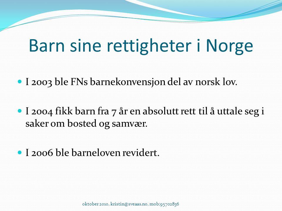 Barn sine rettigheter i Norge