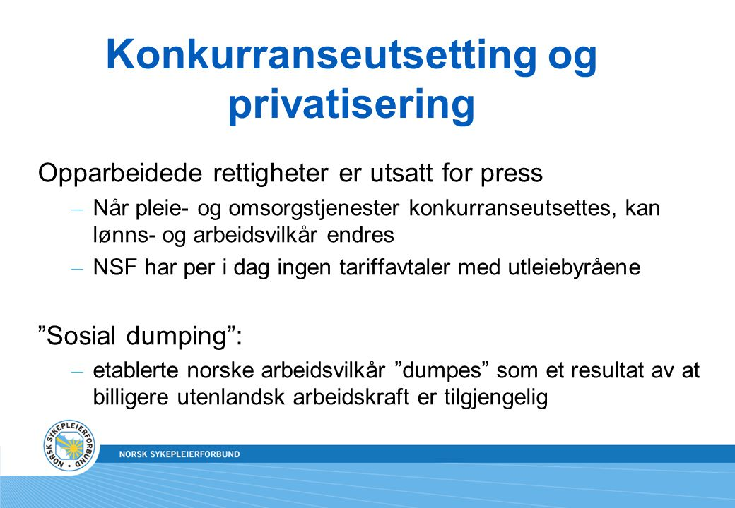 Konkurranseutsetting og privatisering