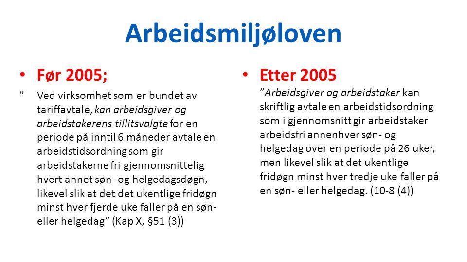 Arbeidsmiljøloven Før 2005;