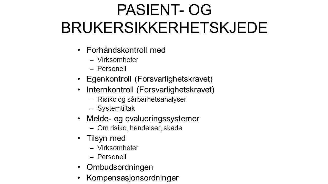 PASIENT- OG BRUKERSIKKERHETSKJEDE