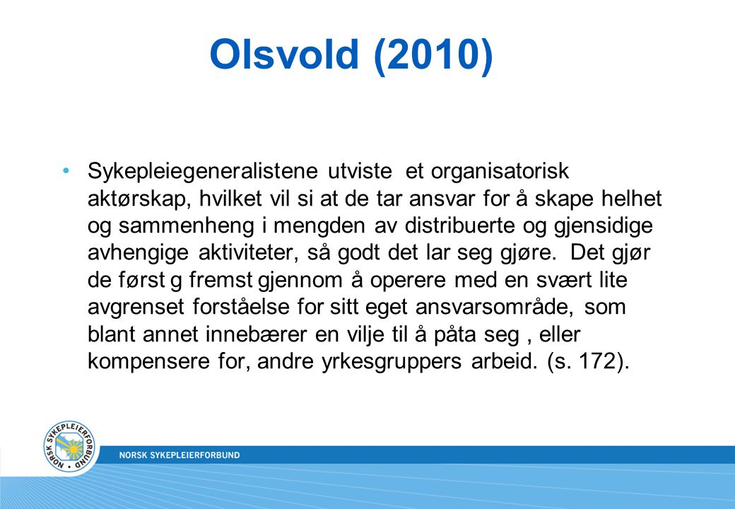 Olsvold (2010)