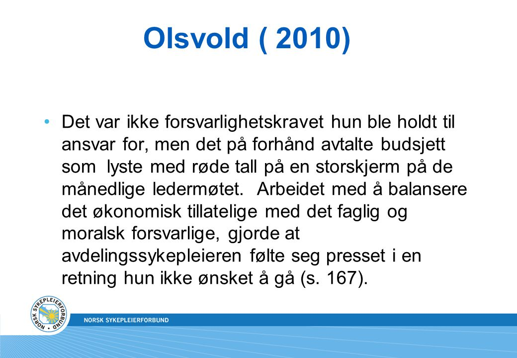 Olsvold ( 2010)