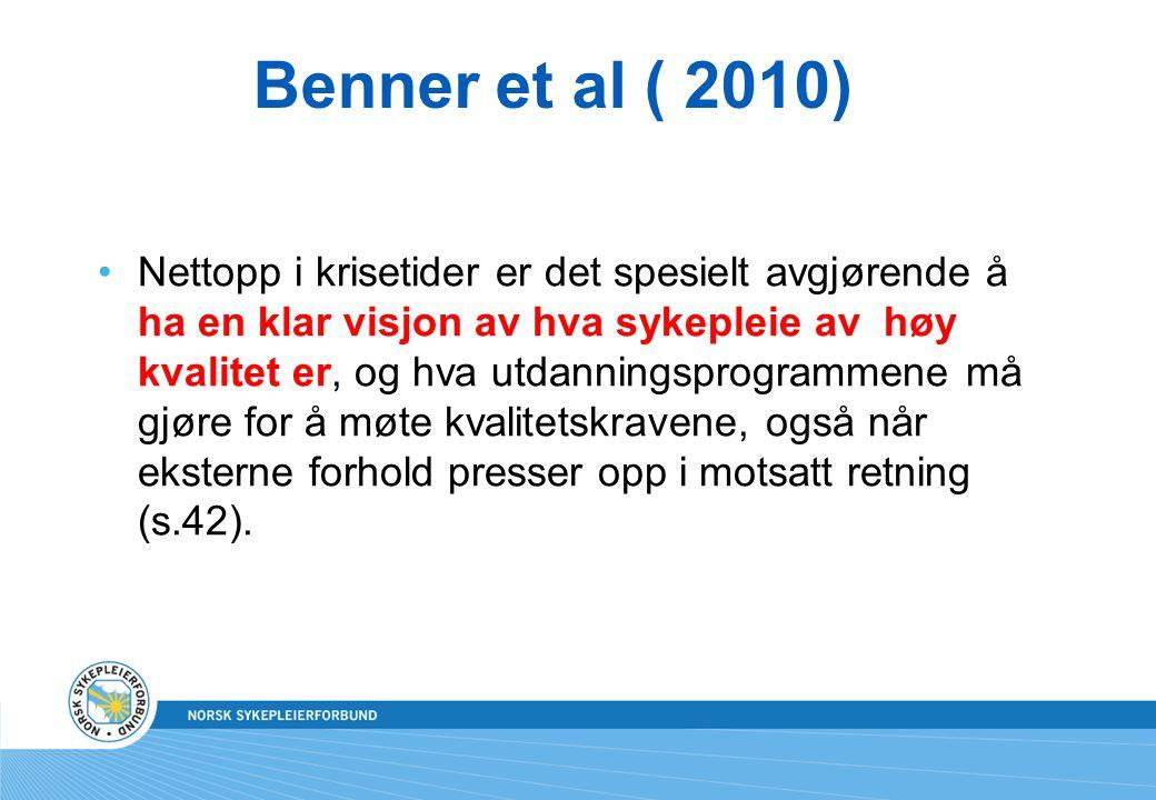 Benner et al ( 2010)