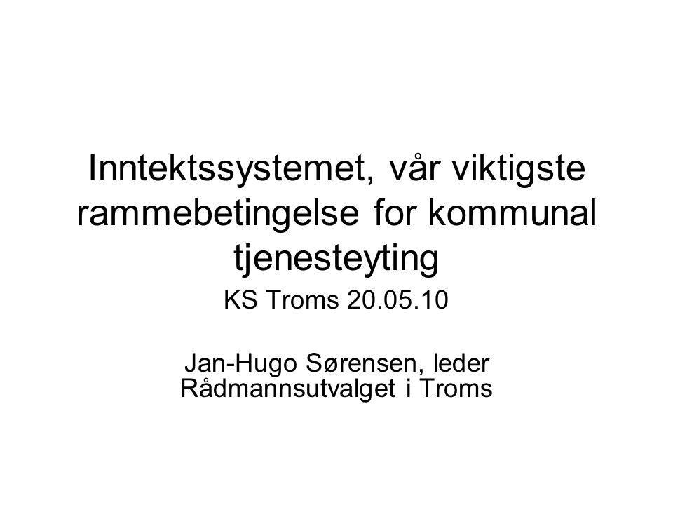 KS Troms 20.05.10 Jan-Hugo Sørensen, leder Rådmannsutvalget i Troms
