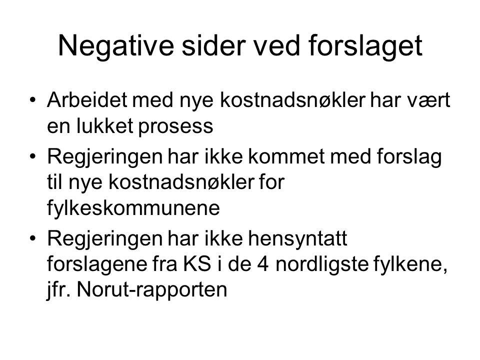 Negative sider ved forslaget