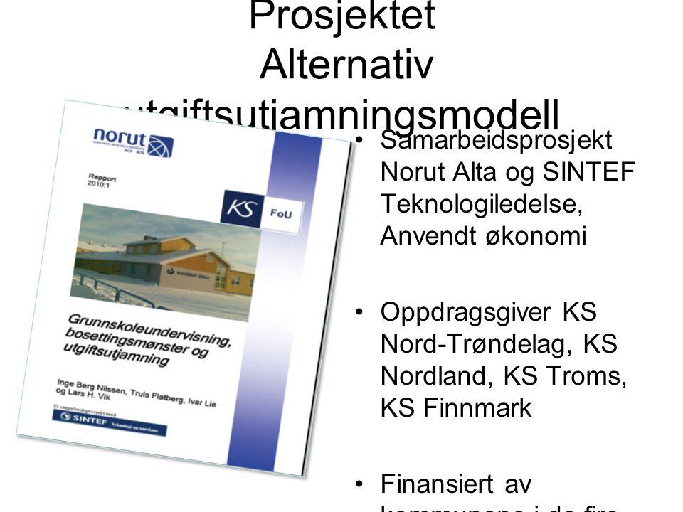 Prosjektet Alternativ utgiftsutjamningsmodell