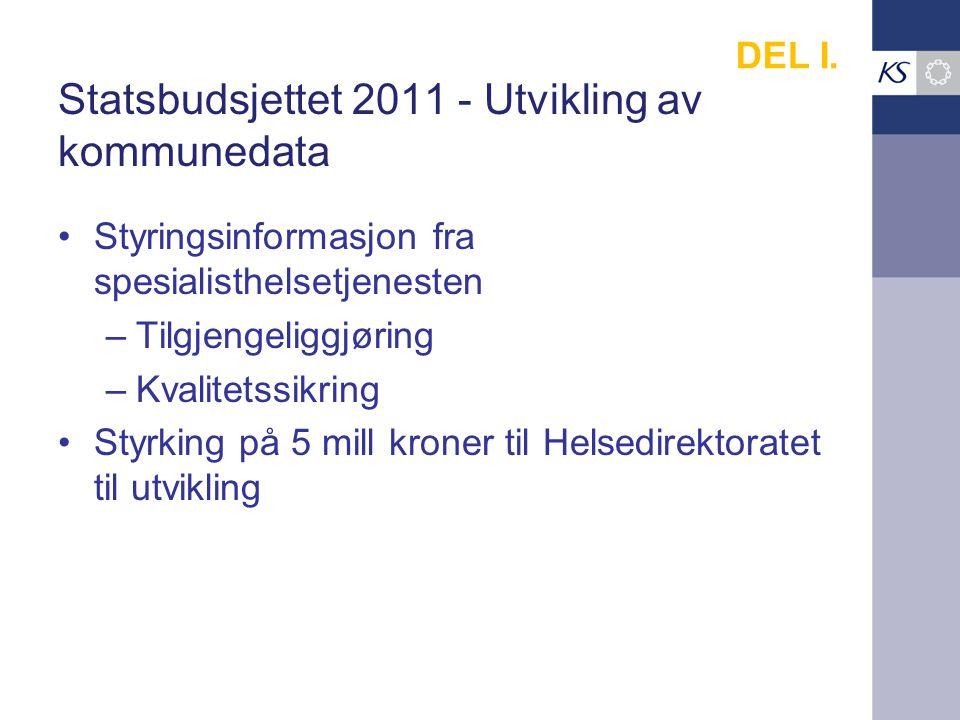 Statsbudsjettet 2011 - Utvikling av kommunedata