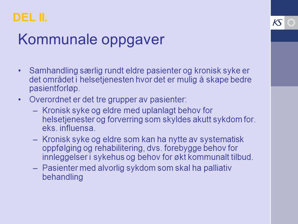 Kommunale oppgaver DEL II.