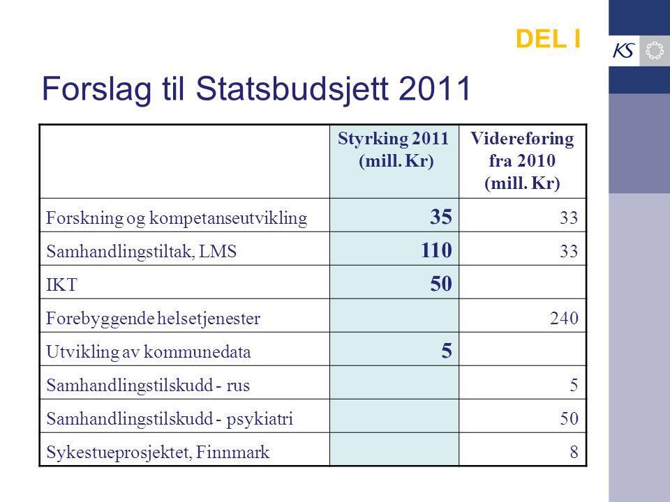 Forslag til Statsbudsjett 2011