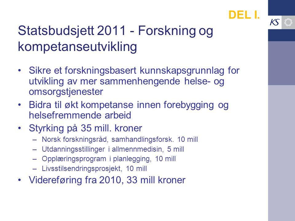 Statsbudsjett 2011 - Forskning og kompetanseutvikling