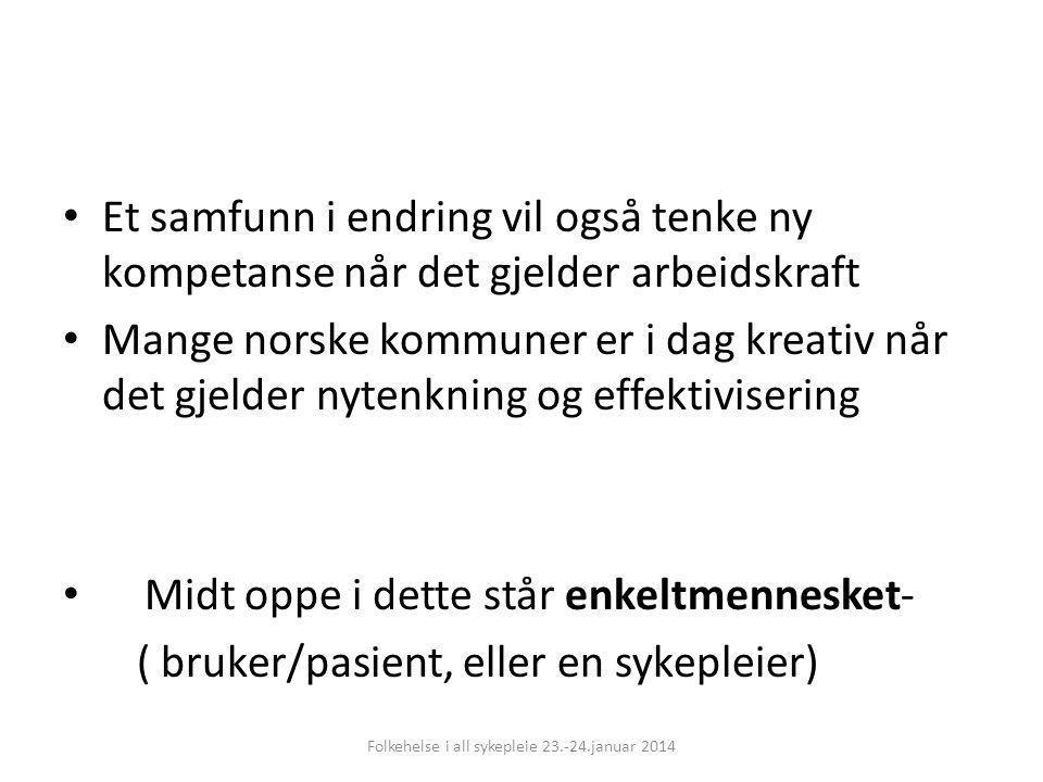 Folkehelse i all sykepleie 23.-24.januar 2014
