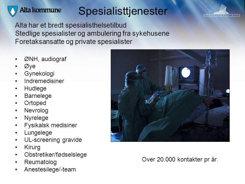Spesialisttjenester Alta har et bredt spesialisthelsetilbud